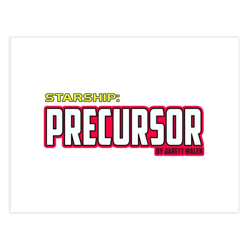 Starship: Precursor by Jarett Walen - Logo Home Fine Art Print by Jarett Walen's Happy Fun Shop of Joy and Pretty Pi