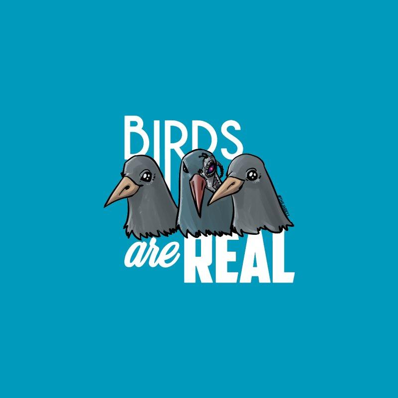 Birds ARE Real - White Men's T-Shirt by Jarett Walen's Happy Fun Shop of Joy and Pretty Pi
