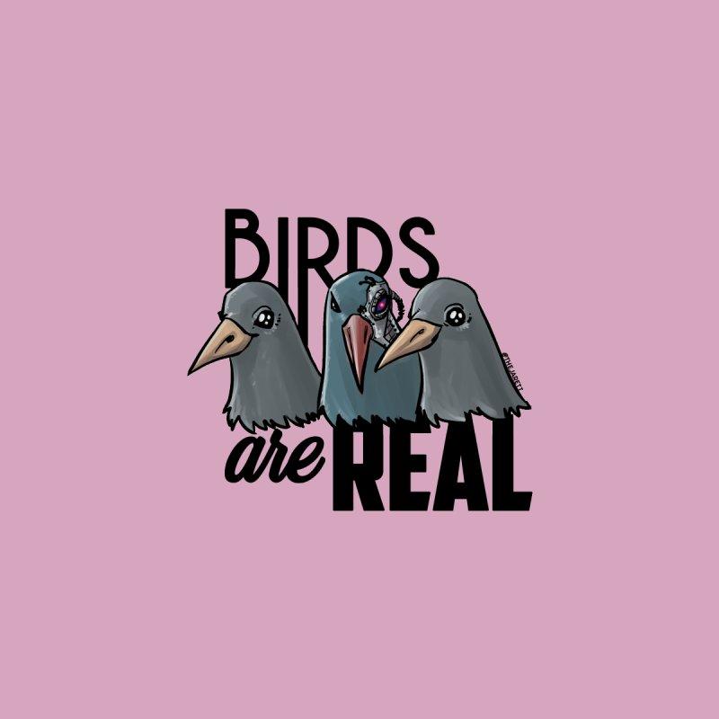Birds ARE Real - Black Men's T-Shirt by Jarett Walen's Happy Fun Shop of Joy and Pretty Pi