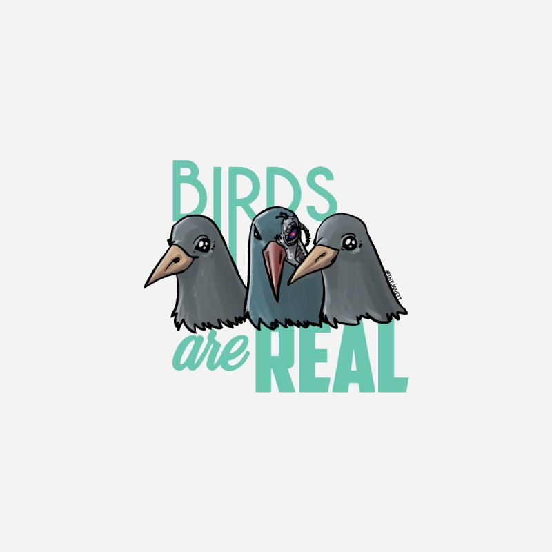 Birds ARE Real - Teal Men's T-Shirt by Jarett Walen's Happy Fun Shop of Joy and Pretty Pi