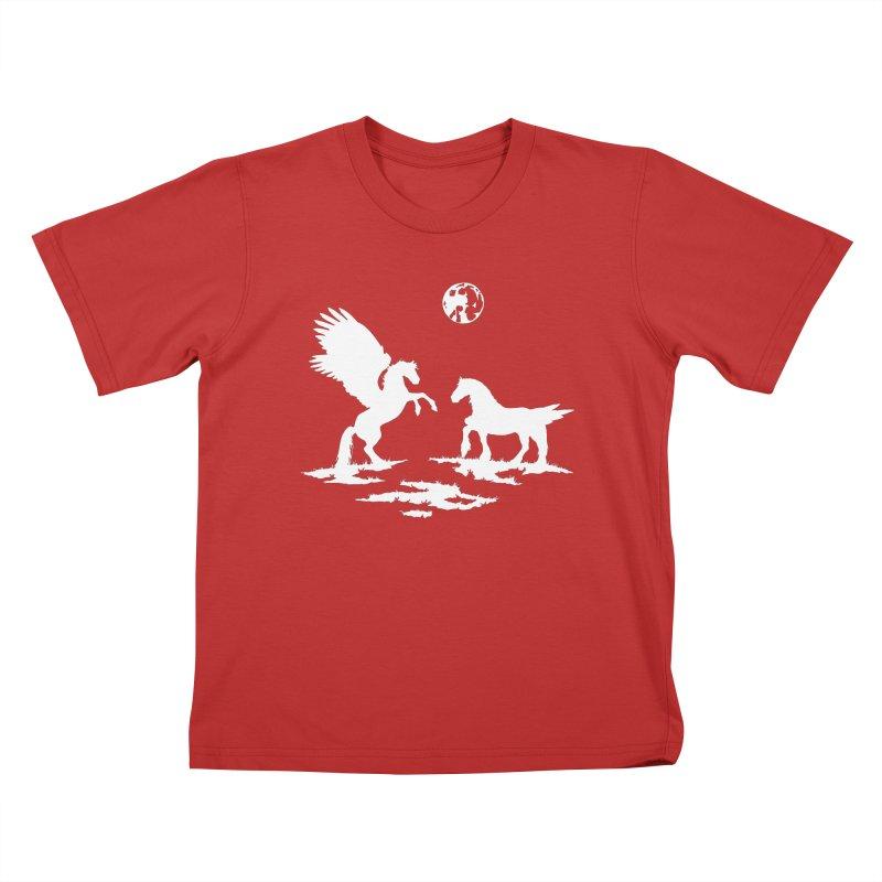 Pegasus Kids T-Shirt by thejauntybadger's Artist Shop
