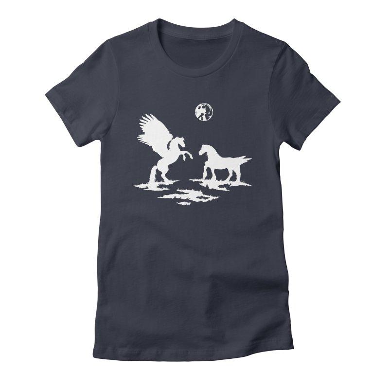 Pegasus Women's Fitted T-Shirt by thejauntybadger's Artist Shop