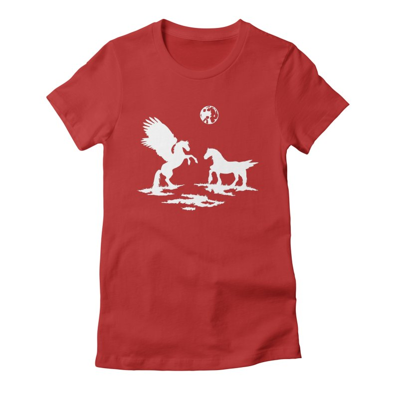 Pegasus Women's Fitted T-Shirt by thejauntybadger's Artist Shop
