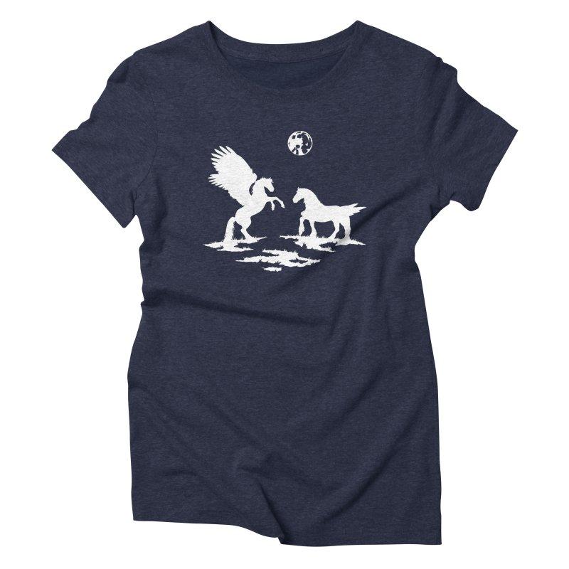 Pegasus Women's Triblend T-shirt by thejauntybadger's Artist Shop