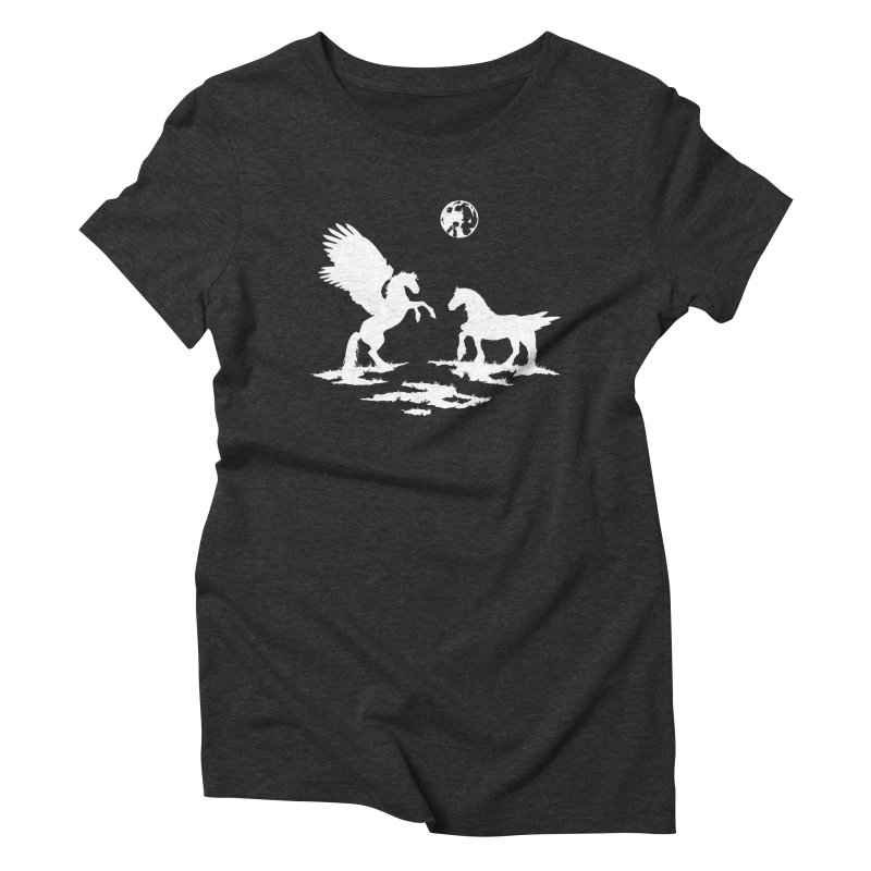 Pegasus Women's Triblend T-Shirt by thejauntybadger's Artist Shop