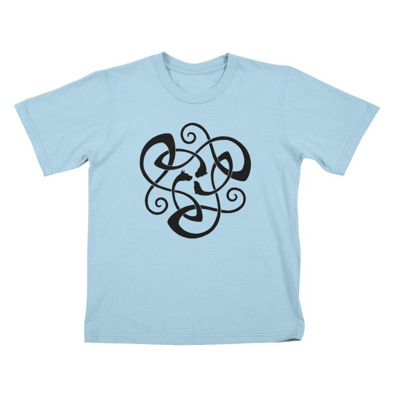 Celtic Cats Kids T-shirt by thejauntybadger's Artist Shop