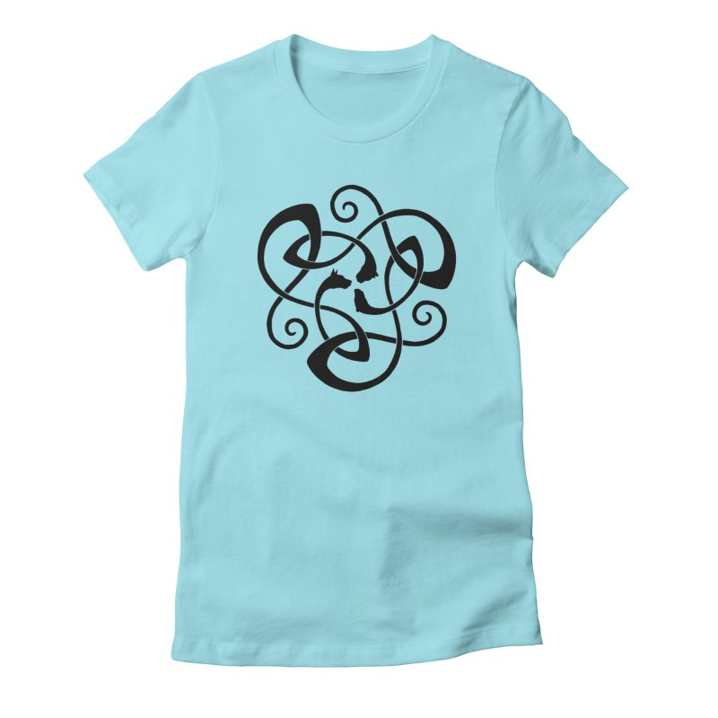 Celtic Cats Women's Fitted T-Shirt by thejauntybadger's Artist Shop