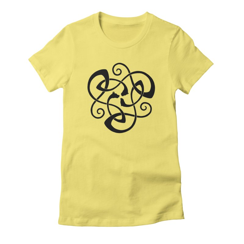 Celtic Cats Women's Fitted T-Shirt by thejauntybadger's Artist Shop