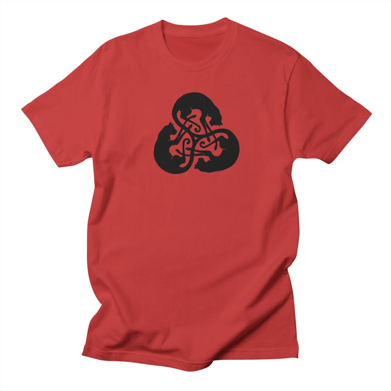 Triskelion Cats Men's T-Shirt by thejauntybadger's Artist Shop