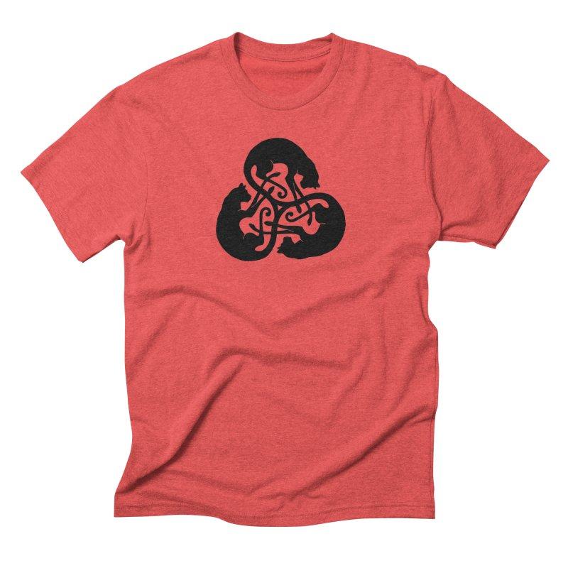 Triskelion Cats Men's Triblend T-Shirt by thejauntybadger's Artist Shop