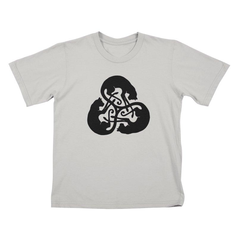 Triskelion Cats Kids T-Shirt by thejauntybadger's Artist Shop