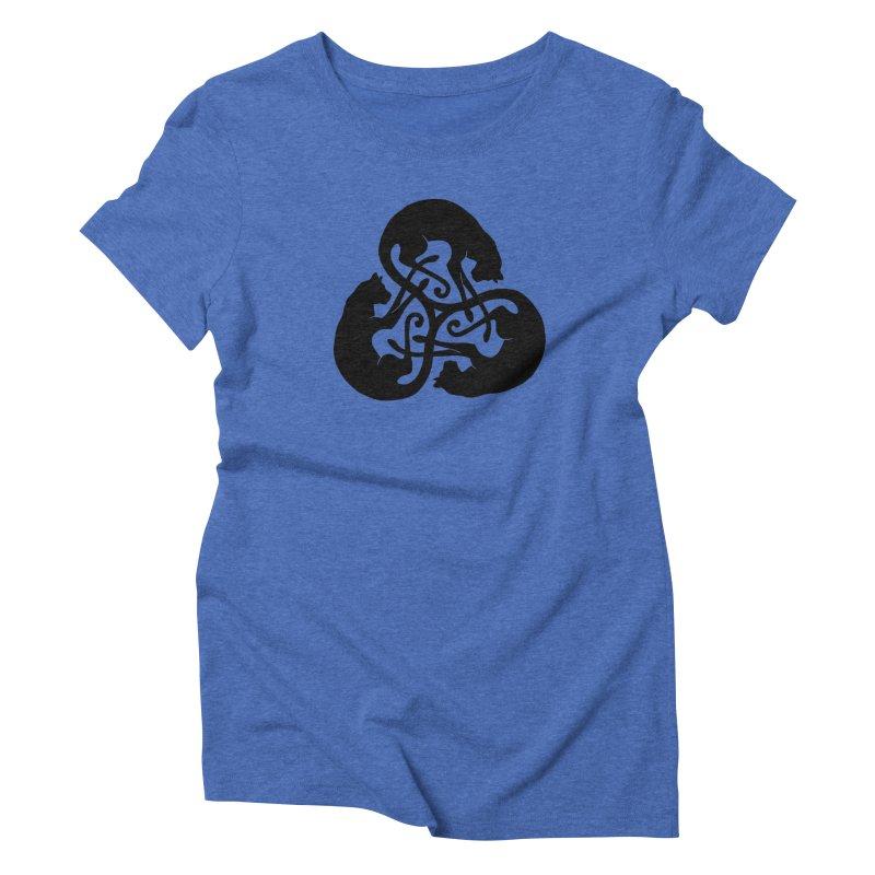 Triskelion Cats Women's Triblend T-shirt by thejauntybadger's Artist Shop