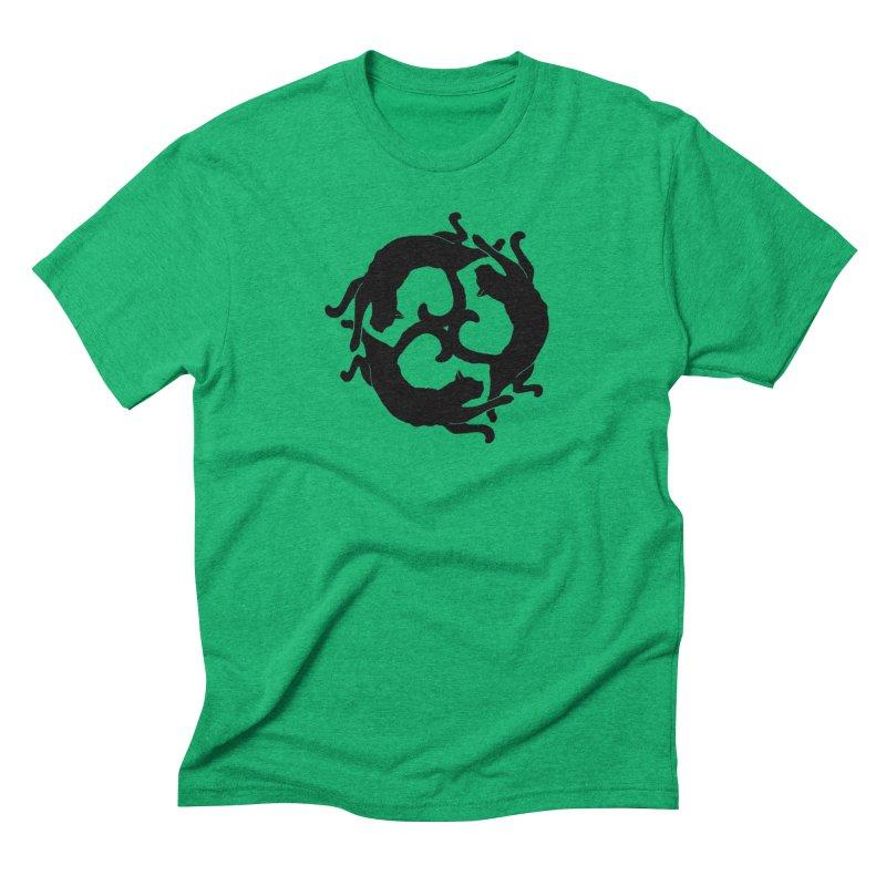 Cat Wheel Men's Triblend T-shirt by thejauntybadger's Artist Shop