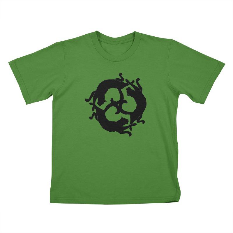 Cat Wheel Kids T-shirt by thejauntybadger's Artist Shop