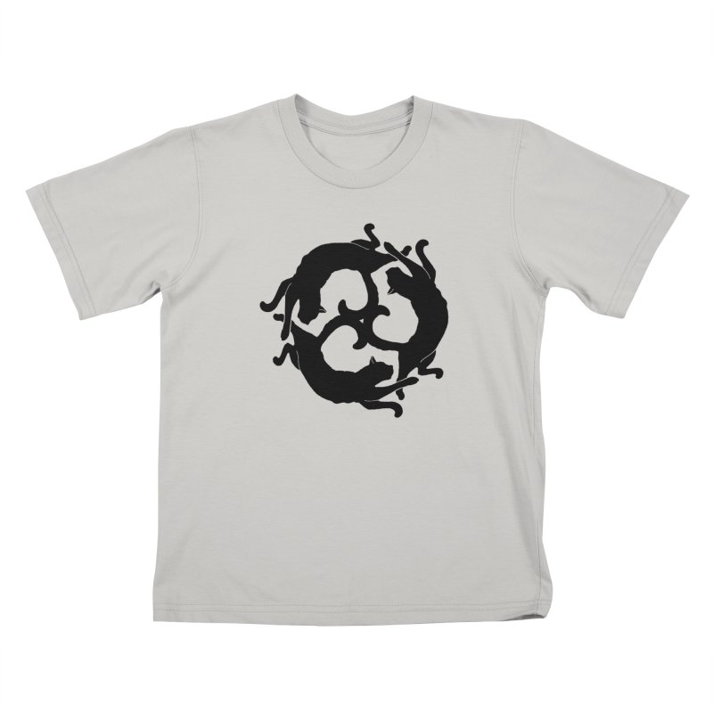 Cat Wheel Kids T-Shirt by thejauntybadger's Artist Shop