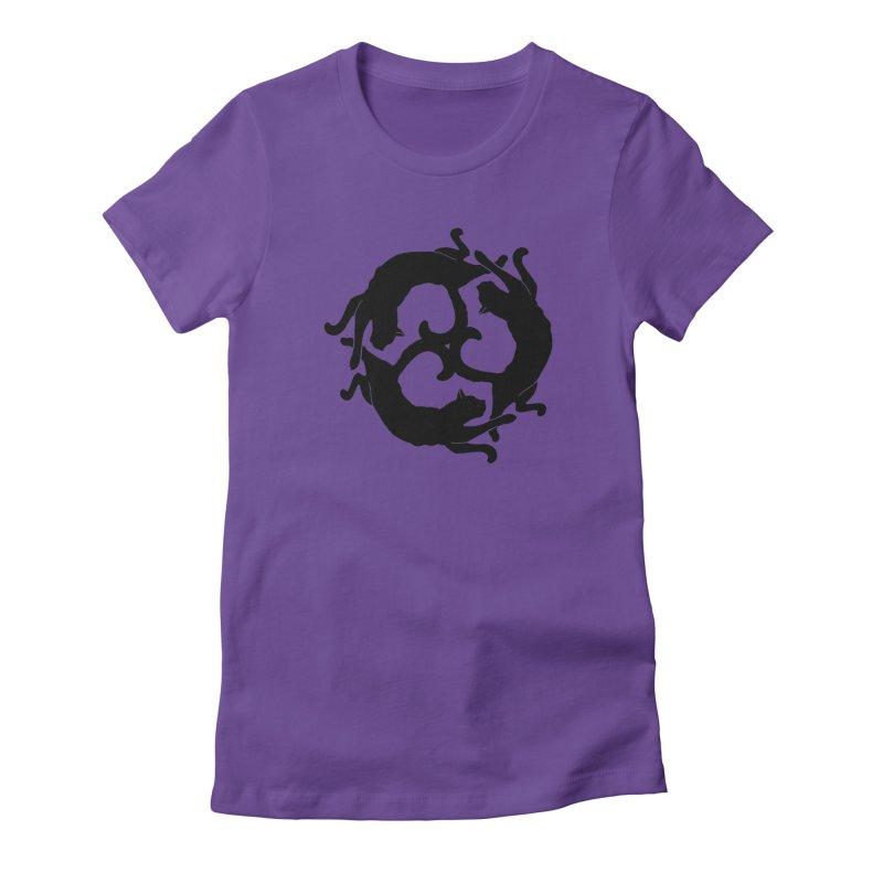 Cat Wheel Women's Fitted T-Shirt by thejauntybadger's Artist Shop
