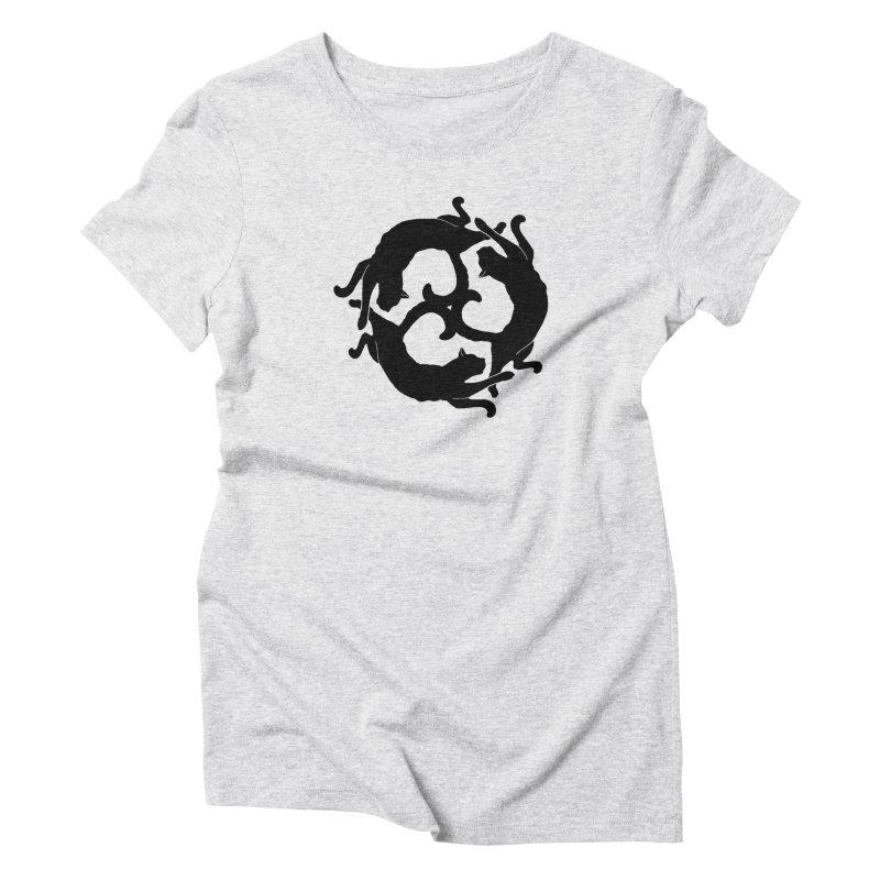 Cat Wheel Women's Triblend T-Shirt by thejauntybadger's Artist Shop
