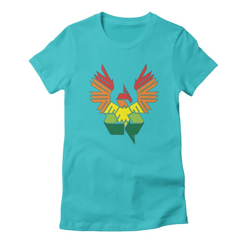 Recycle: Phoenix Women's Fitted T-Shirt by thejauntybadger's Artist Shop