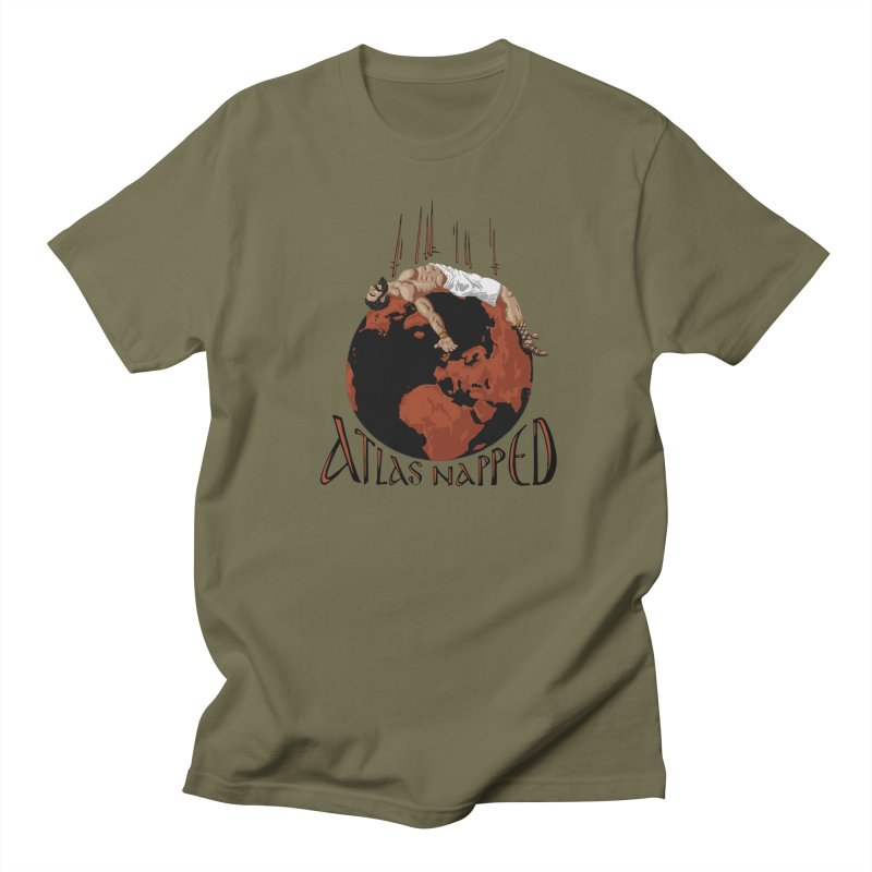 Atlas Napped Men's T-shirt by thejauntybadger's Artist Shop
