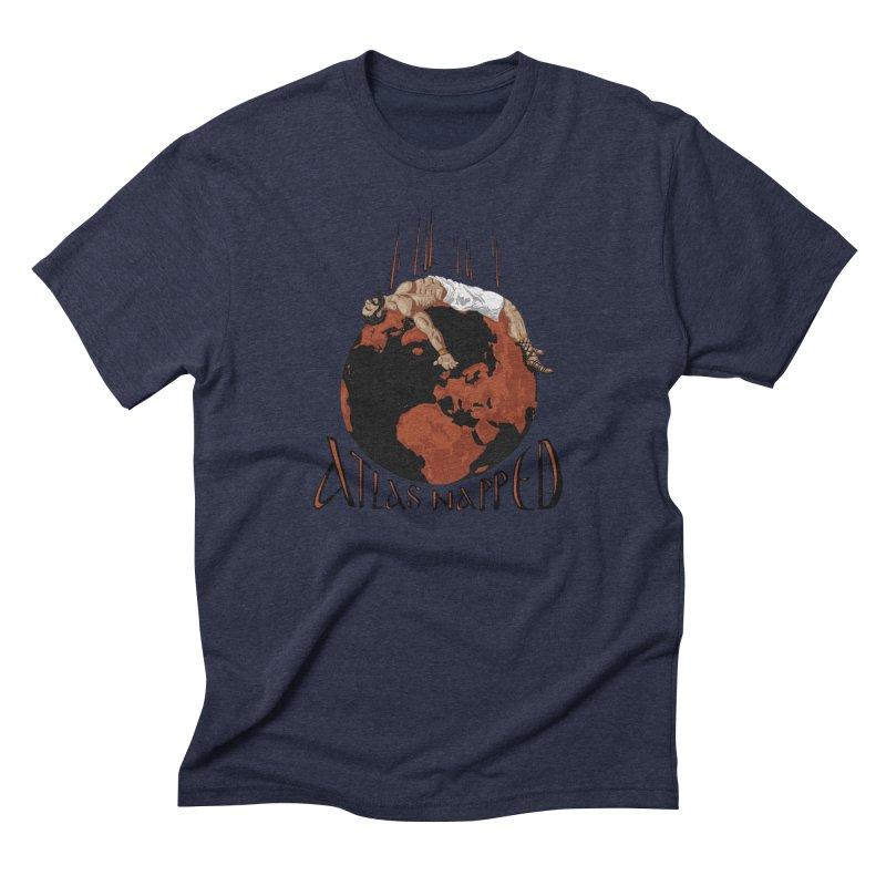 Atlas Napped Men's Triblend T-Shirt by thejauntybadger's Artist Shop