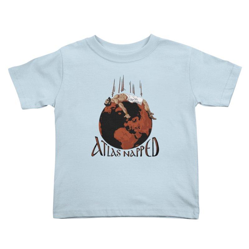 Atlas Napped Kids Toddler T-Shirt by thejauntybadger's Artist Shop
