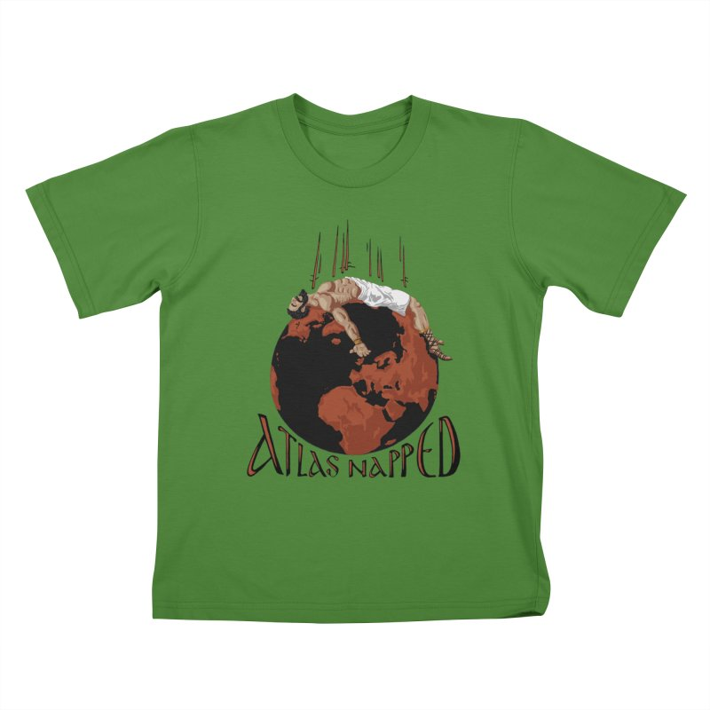 Atlas Napped Kids T-Shirt by thejauntybadger's Artist Shop