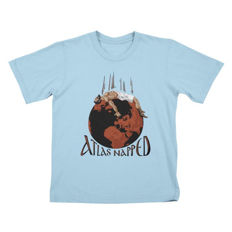 Atlas Napped Kids T-shirt by thejauntybadger's Artist Shop