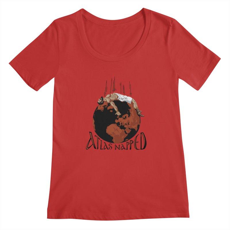 Atlas Napped Women's Scoopneck by thejauntybadger's Artist Shop