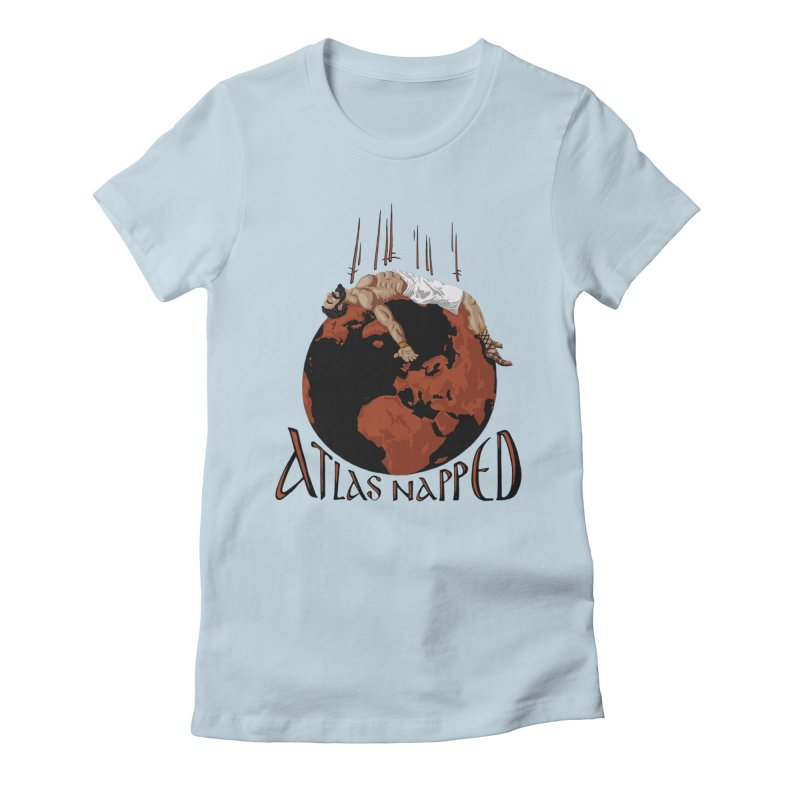 Atlas Napped Women's Fitted T-Shirt by thejauntybadger's Artist Shop