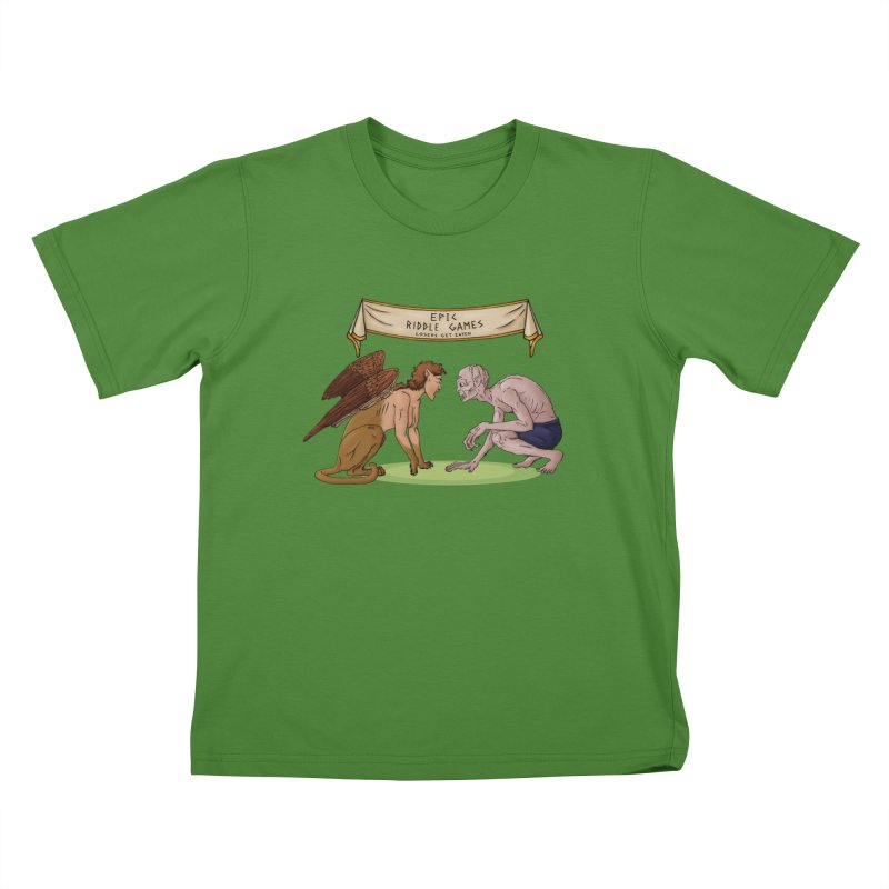 Riddle Game: Masters Level Kids T-Shirt by thejauntybadger's Artist Shop