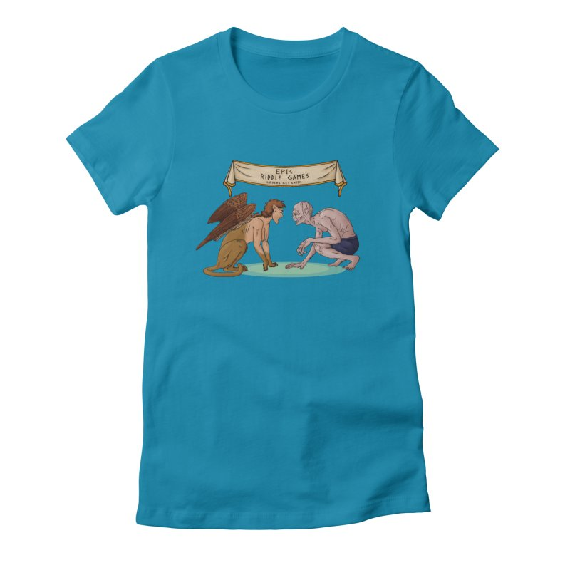 Riddle Game: Masters Level Women's Fitted T-Shirt by thejauntybadger's Artist Shop