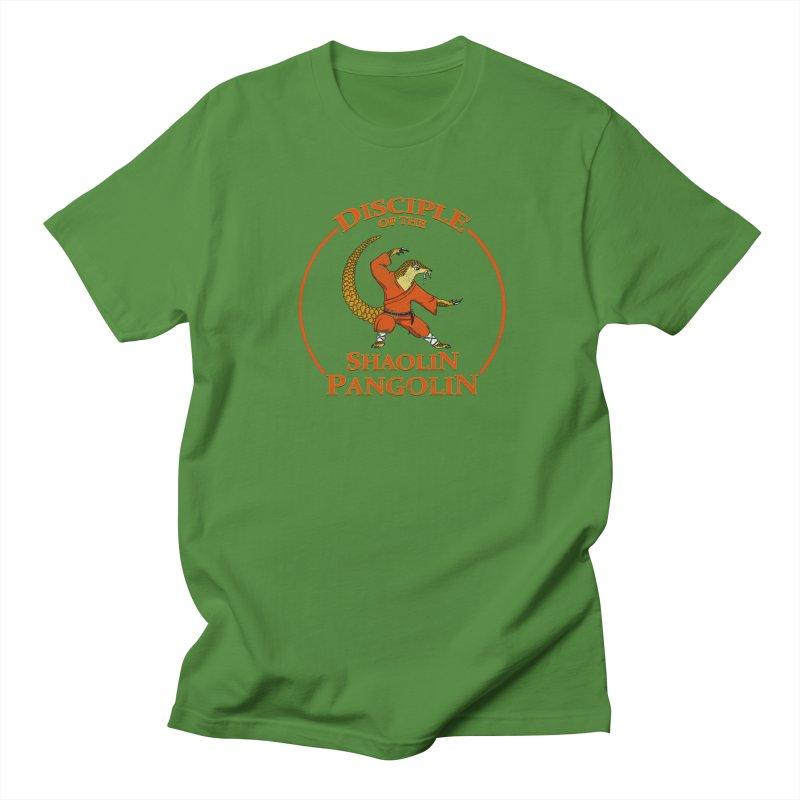 Shaolin Pangolin Men's T-Shirt by thejauntybadger's Artist Shop