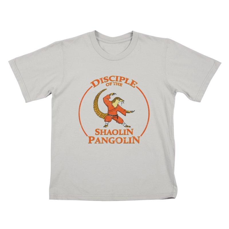 Shaolin Pangolin Kids T-Shirt by thejauntybadger's Artist Shop