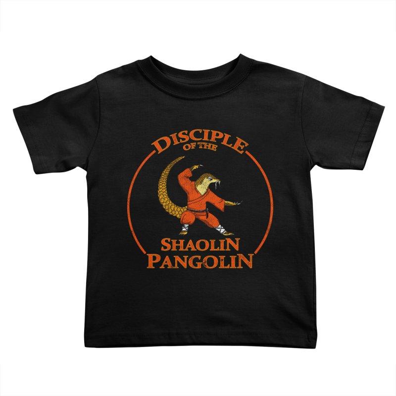 Shaolin Pangolin Kids Toddler T-Shirt by thejauntybadger's Artist Shop