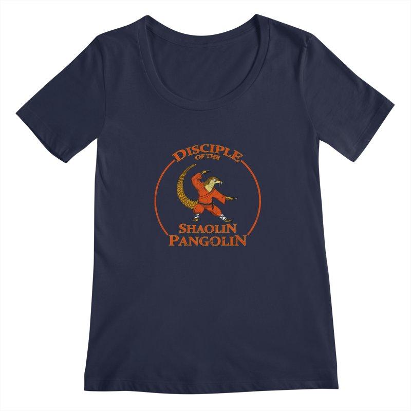 Shaolin Pangolin Women's Scoopneck by thejauntybadger's Artist Shop