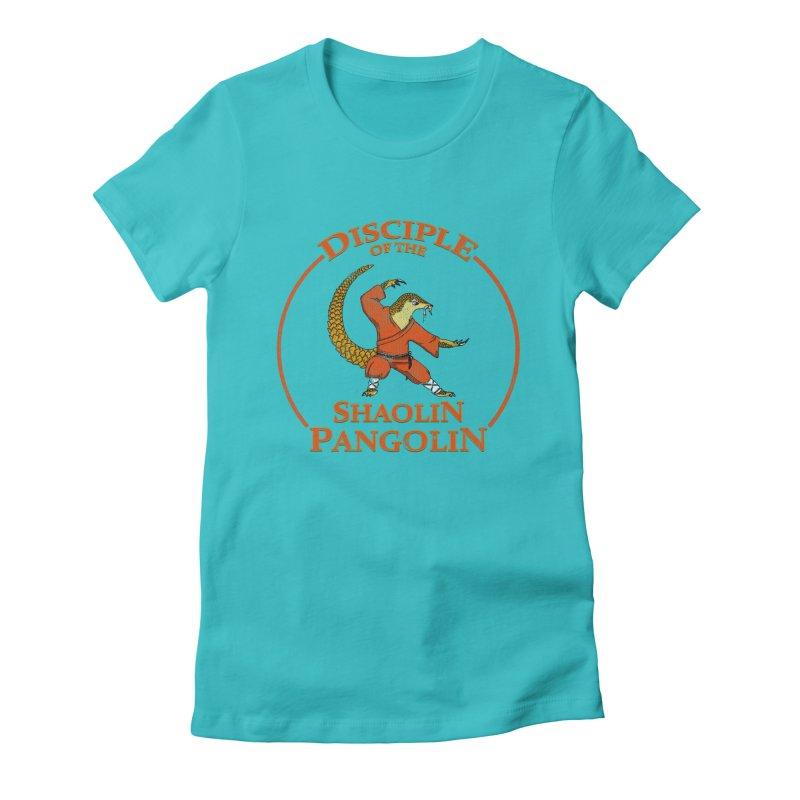 Shaolin Pangolin Women's Fitted T-Shirt by thejauntybadger's Artist Shop
