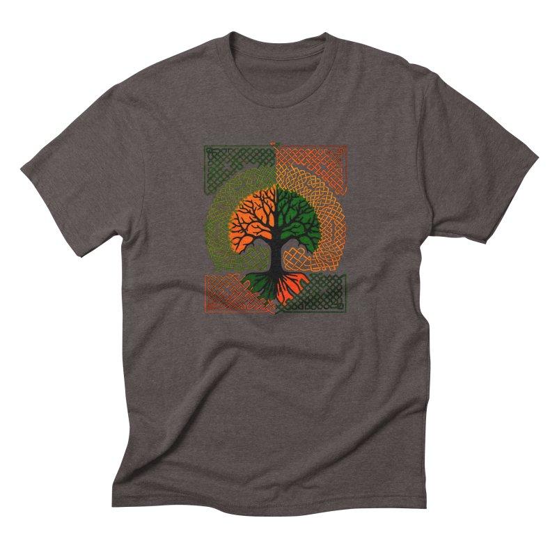 Celtic Tree Men's Triblend T-shirt by thejauntybadger's Artist Shop