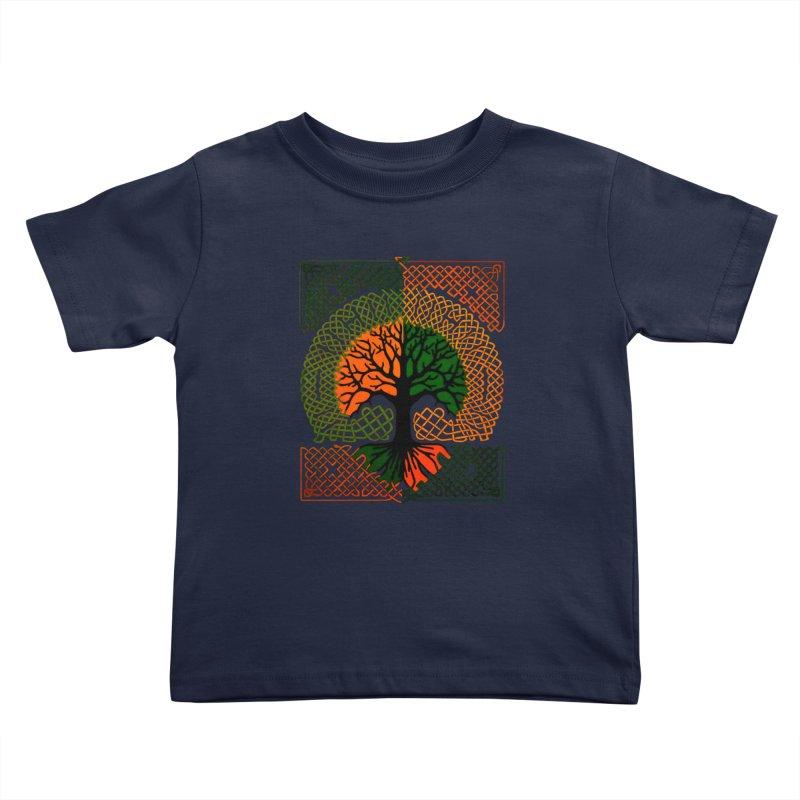 Celtic Tree Kids Toddler T-Shirt by thejauntybadger's Artist Shop
