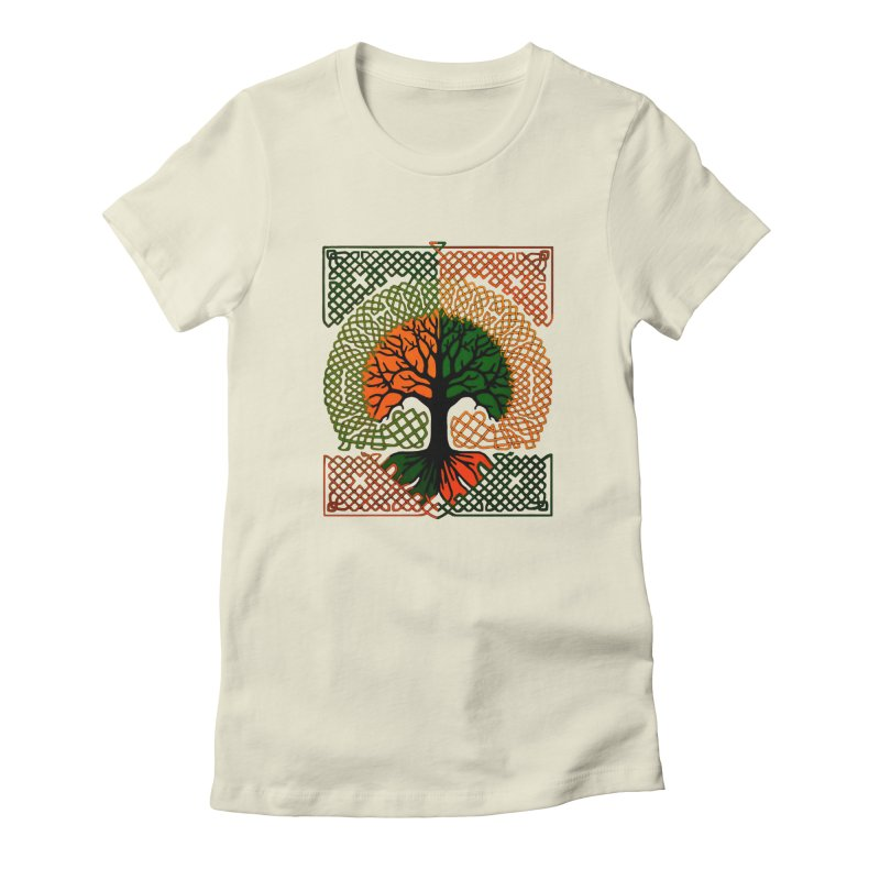Celtic Tree Women's Fitted T-Shirt by thejauntybadger's Artist Shop