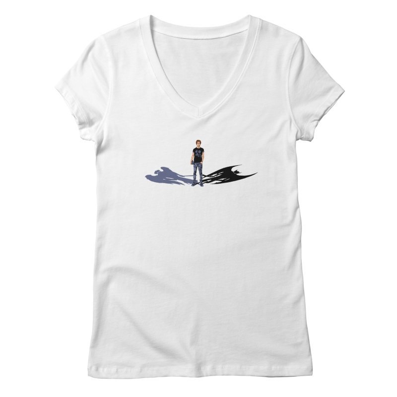 Shadows of Ourselves Women's V-Neck by thejauntybadger's Artist Shop
