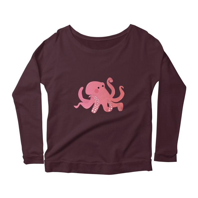 Mermay, Octopus Women's Scoop Neck Longsleeve T-Shirt by theladyernestember's Artist Shop