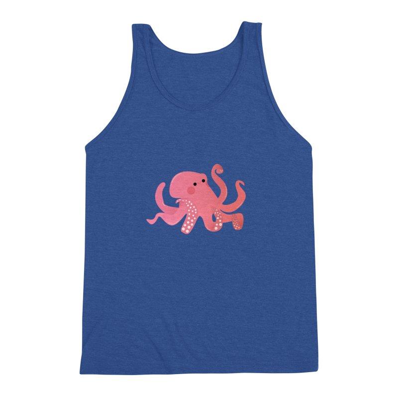Mermay, Octopus Men's Triblend Tank by theladyernestember's Artist Shop