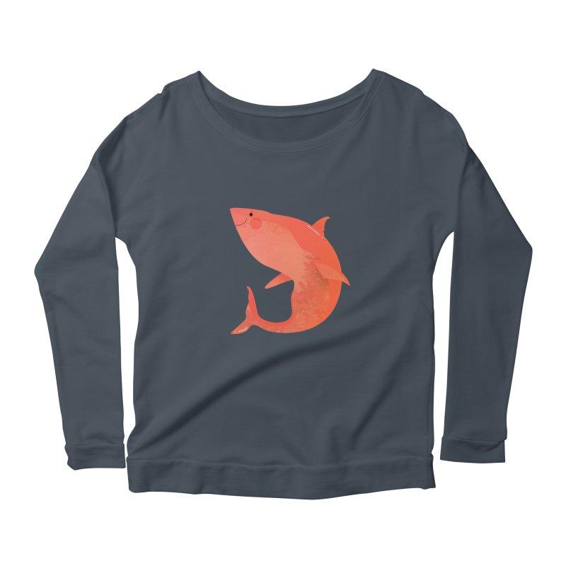 Shark Women's Scoop Neck Longsleeve T-Shirt by theladyernestember's Artist Shop