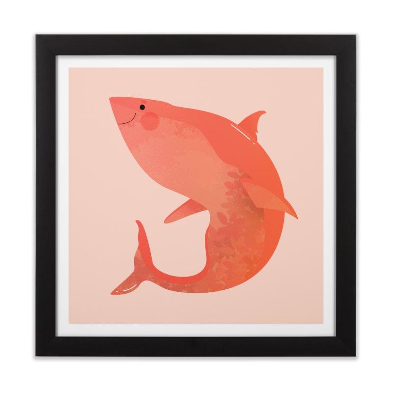 Shark Home Framed Fine Art Print by theladyernestember's Artist Shop