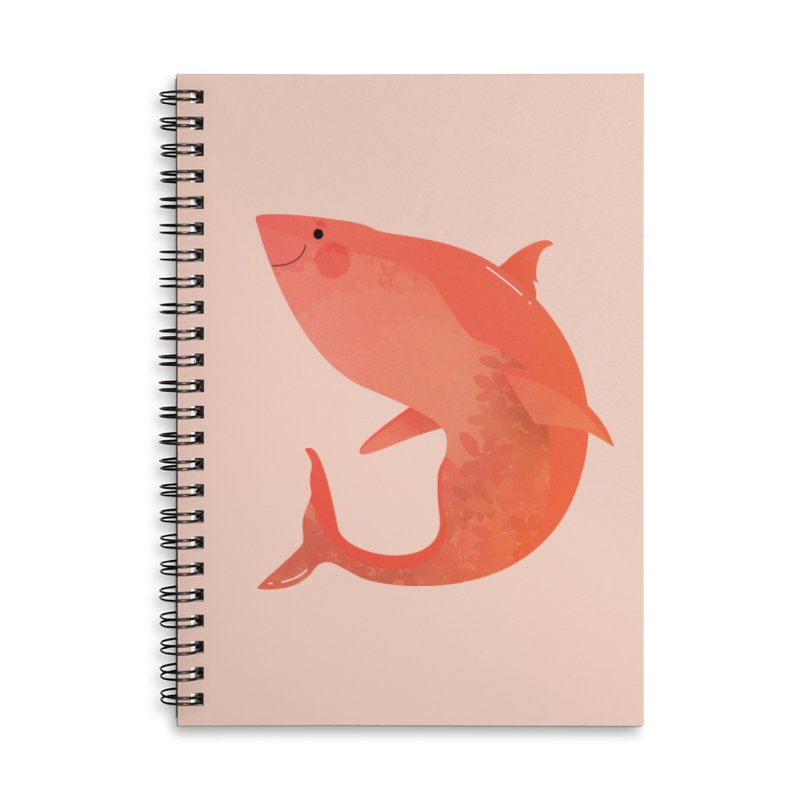 Shark Accessories Lined Spiral Notebook by theladyernestember's Artist Shop