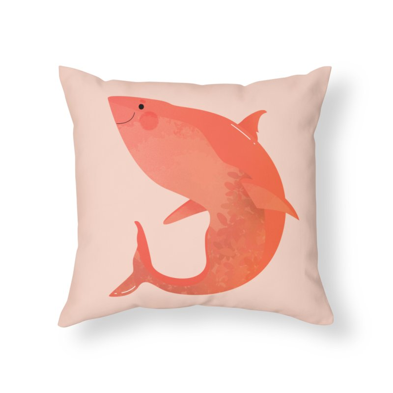 Shark Home Throw Pillow by theladyernestember's Artist Shop