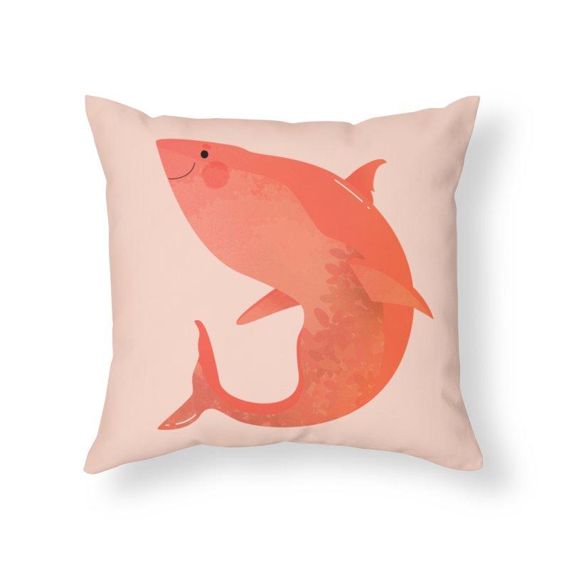 Shark Home Throw Pillow by theladyernestember's Artist Shop