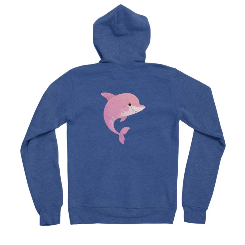 Dolphin Men's Sponge Fleece Zip-Up Hoody by theladyernestember's Artist Shop