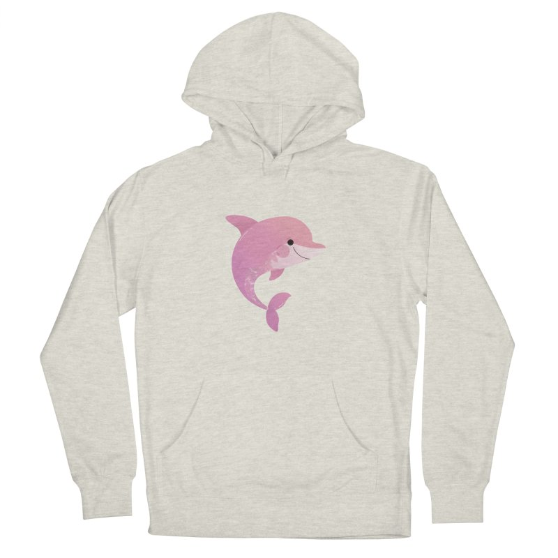 Dolphin Men's French Terry Pullover Hoody by theladyernestember's Artist Shop