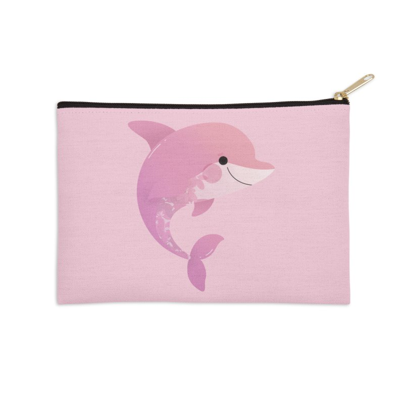 Dolphin Accessories Zip Pouch by theladyernestember's Artist Shop